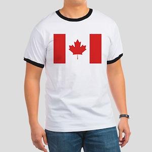 Flag of Canada Ringer T