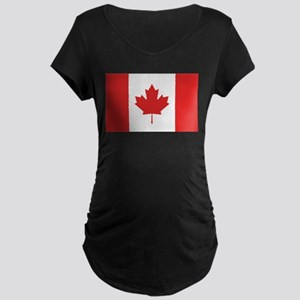 Flag of Canada Maternity Dark T-Shirt
