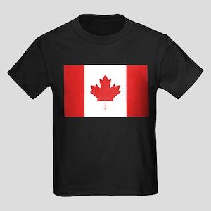 Flag of Canada Kids Dark T-Shirt