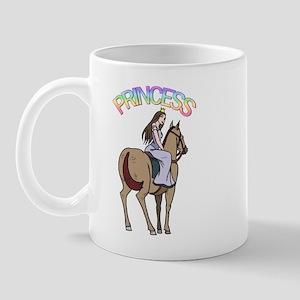 Brunette Princess and Pony Mug