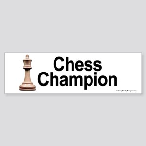 Chess Champion Bumper Sticker.