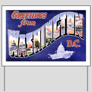 Washington, D.C. Greetings Yard Sign