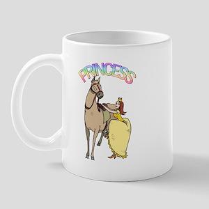 Redhead Princess and Pony Mug