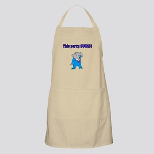 This Party Sucks BBQ Apron