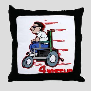Four Wheelin' Throw Pillow