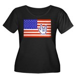 ILY Flag Women's Plus Size Scoop Neck Dark T-Shirt