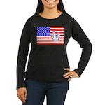 ILY Flag Women's Long Sleeve Dark T-Shirt