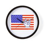 ILY Flag Wall Clock