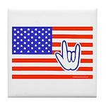 ILY Flag Tile Coaster