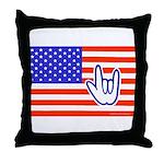 ILY Flag Throw Pillow