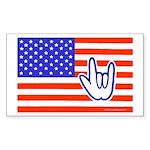 ILY Flag Rectangle Sticker 10 pk)