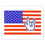 ILY Flag Small Poster