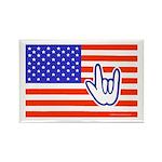 ILY Flag Rectangle Magnet (10 pack)