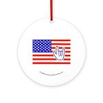 ILY Flag Ornament (Round)