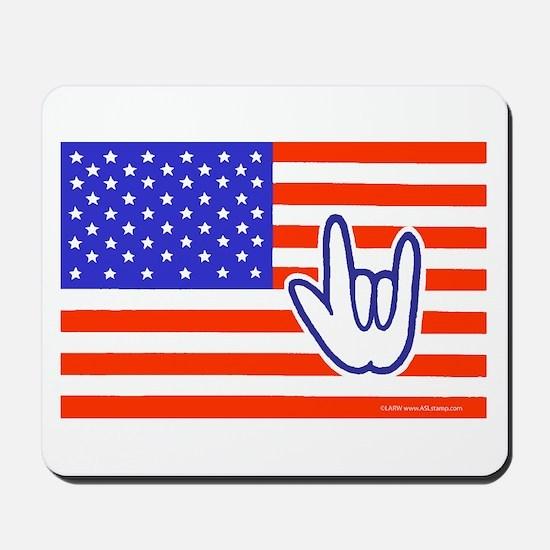 ILY Flag Mousepad