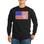 ILY Flag Long Sleeve Dark T-Shirt