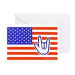 ILY Flag Greeting Card