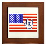 ILY Flag Framed Tile