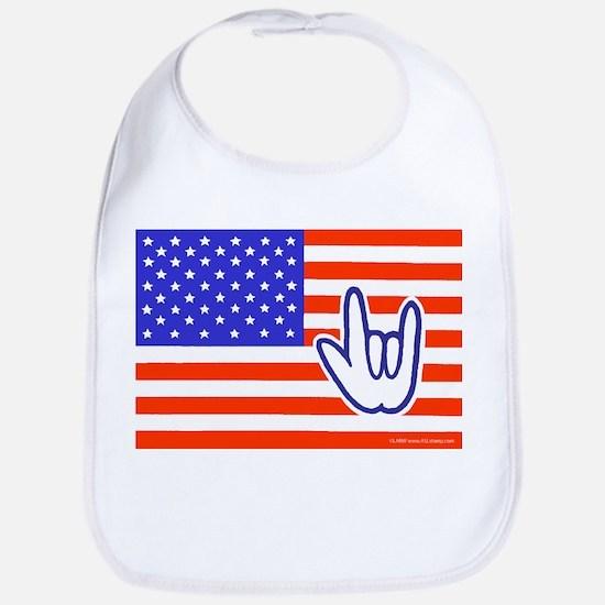 ILY Flag Bib