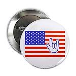 """ILY Flag 2.25"""" Button"""