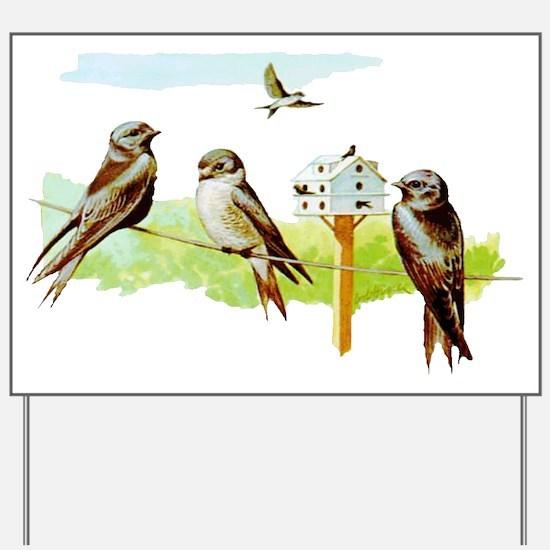 Purple Martin Bird Yard Sign