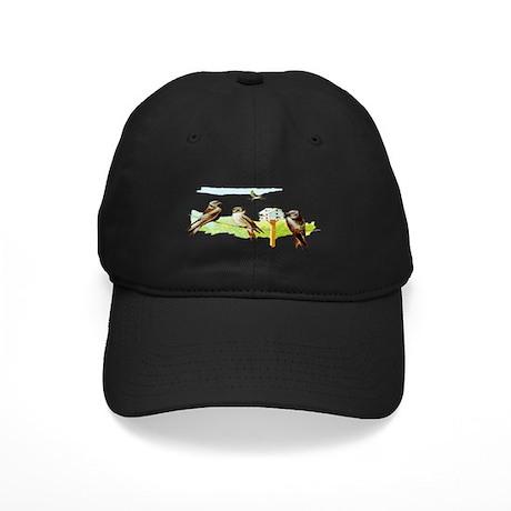 Purple Martin Bird Black Cap