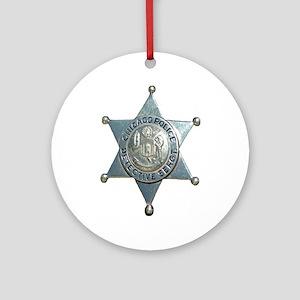 Chicago, Illinois Police Dete Ornament (Round)