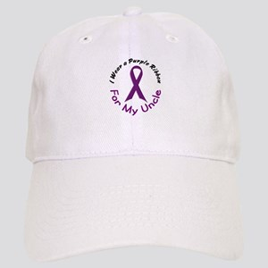 Purple Ribbon For My Uncle 4 Cap