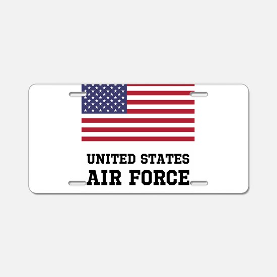 United States Air Force Aluminum License Plate