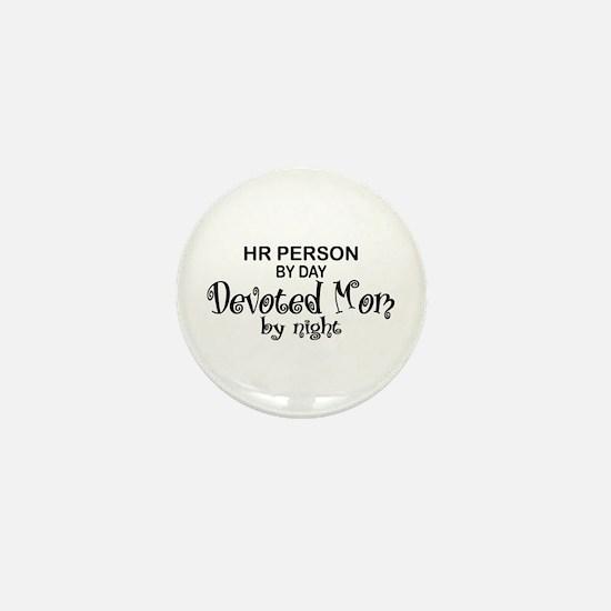 HR Devoted Mom Mini Button