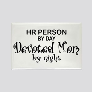 HR Devoted Mom Rectangle Magnet