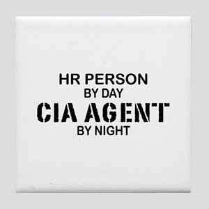 HR CIA Agent by Night Tile Coaster