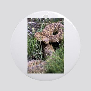 Rattlesnake Photo Ornament (Round)