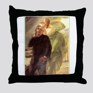 Albert Maignan - Green Muse Throw Pillow