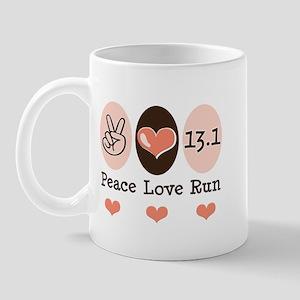 Peace Love Run 13.1 Mug