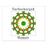 Turbocharged Human Small Poster