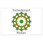 Turbocharged Human Large Poster