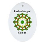 Turbocharged Human Oval Ornament