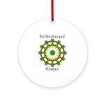 Turbocharged Human Ornament (Round)