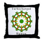 Turbocharged Human Throw Pillow