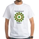 Turbocharged Human White T-Shirt