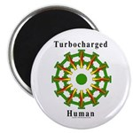 "Turbocharged Human 2.25"" Magnet (100 Pack) Ma"
