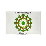 Turbocharged Human Rectangle Magnet (10 pack)