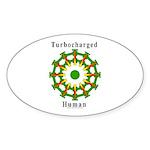 Turbocharged Human Oval Sticker (50 pk)