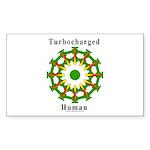 Turbocharged Human Rectangle Sticker 50 pk)