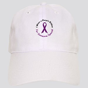 Purple Ribbon For Someone Special 4 Cap