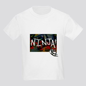 Ninja Cat Kids Light T-Shirt