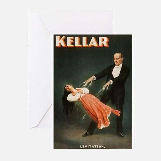 Kellar Magician - Levitation Greeting Cards (Pk of