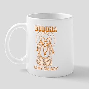 Retro Buddha Is My Om Boy Mug