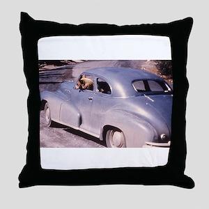Bear Driving Photo Throw Pillow
